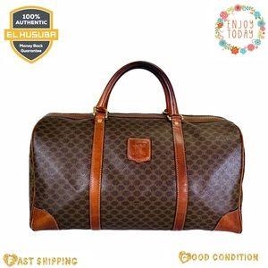Celine travel bag macadam pvc brown